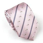 玛诗杜(MSKOO)粉色条纹小鸭子正装真丝领带MTS-8034