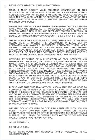 尼日利亚王子骗局