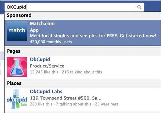 Facebook的搜索广告