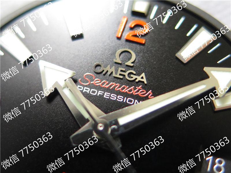 VS厂欧米茄海马600米橙色字胶带大号45.5mm复刻表拆解测评-第4张