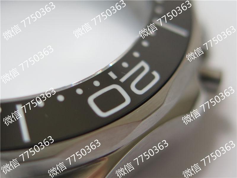 VS厂欧米茄海马300米黑面波浪纹胶带款复刻表拆解测评-第12张