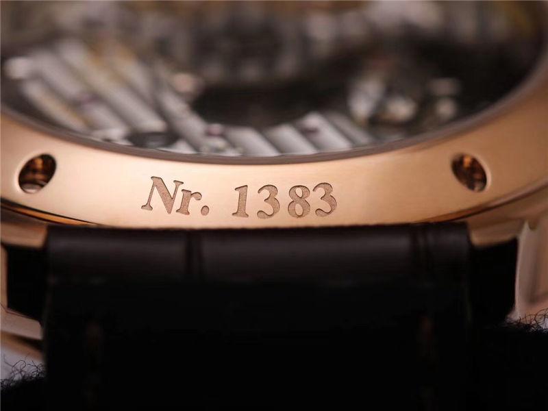 V9厂格拉苏蒂原创议员系列大日历月相_复刻表与正品对比测评-第43张