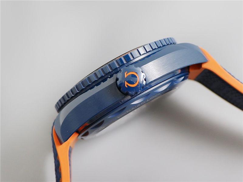 VS厂欧米茄海马600碧海之蓝陶瓷表_复刻表测评-第6张