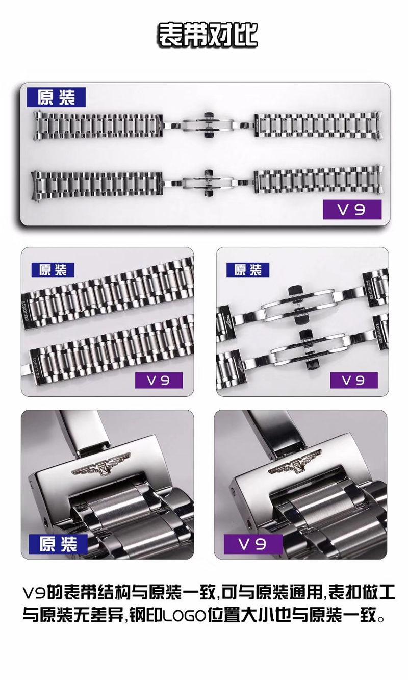 V9厂浪琴名匠三针日历40mm_复刻表与正品对比测评-第7张