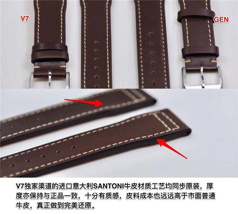 V7厂万国马克十八瑞士ETA2892机芯_复刻表与正品对比测评-第8张