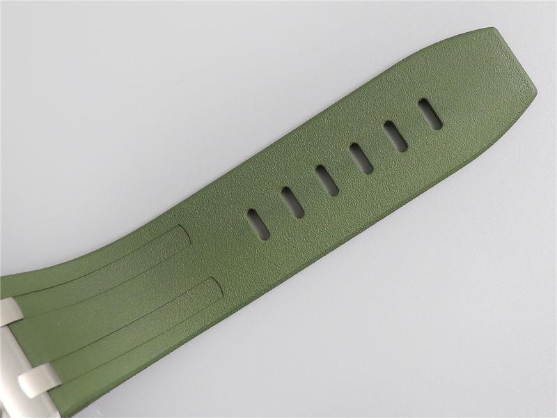 "JF厂爱彼皇家橡树离岸型15710ST""军绿色""_复刻表测评"