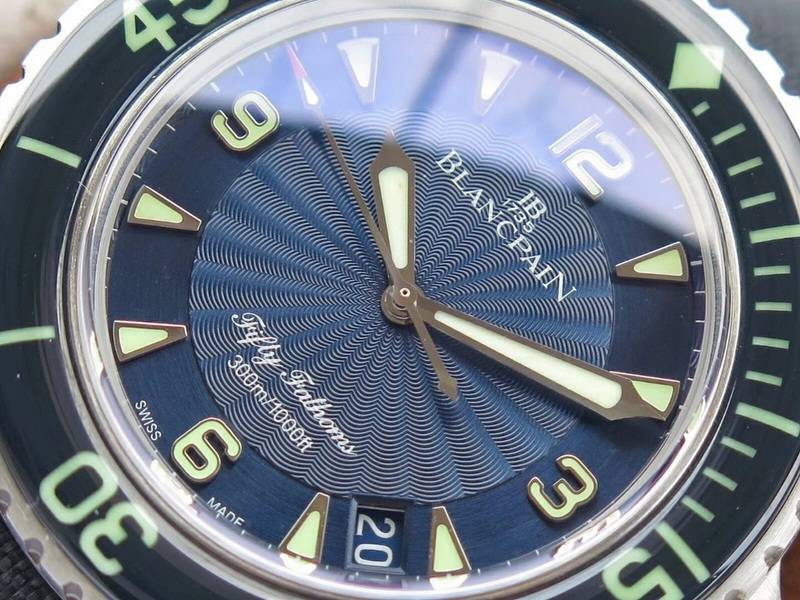 ZF厂宝珀五十噚系列5015D-1140-52B放射纹蓝面_复刻表测评
