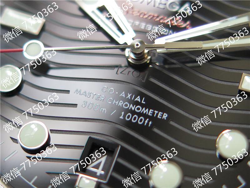 VS厂欧米茄海马300米黑面波浪纹胶带款复刻表拆解测评-第5张