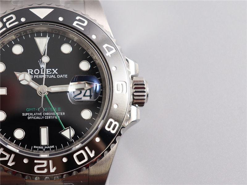 AR厂劳力士格林尼治二代116710绿针GMT_复刻表测评-第4张