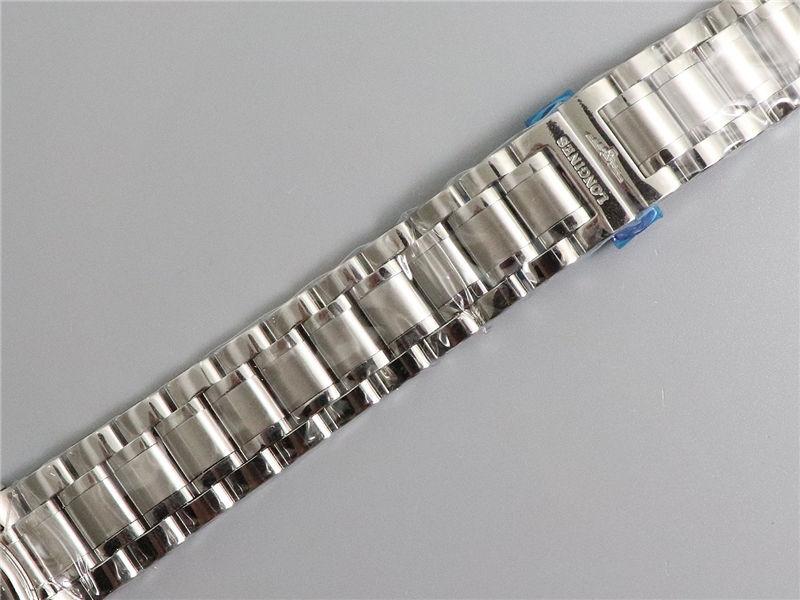 V9厂浪琴名匠三针日历40mm蓝面钻字_复刻表与正品对比测评