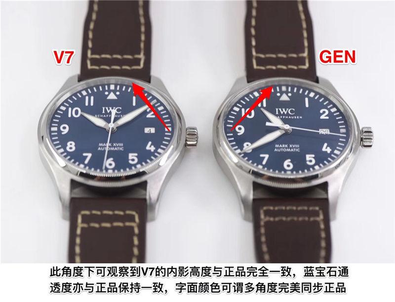 V7厂万国马克十八瑞士ETA2892机芯_复刻表与正品对比测评-第2张