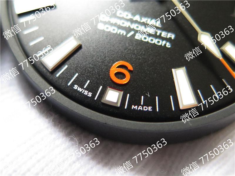 VS厂欧米茄海马600米橙色字胶带大号45.5mm复刻表拆解测评-第6张