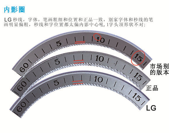 LG厂浪琴名匠双历_复刻表与正品对比测评-第5张
