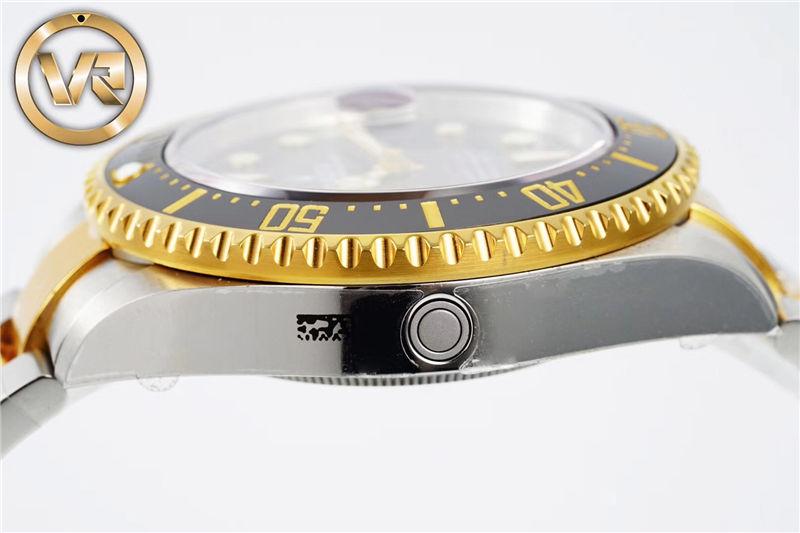 VR厂劳力士单黄鬼王18K包金手表m126603-0001_复刻表测评