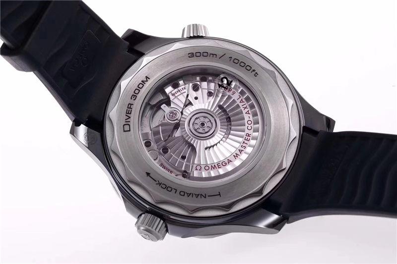 VS厂欧米茄海马300米黑陶瓷表壳_复刻表测评-第11张