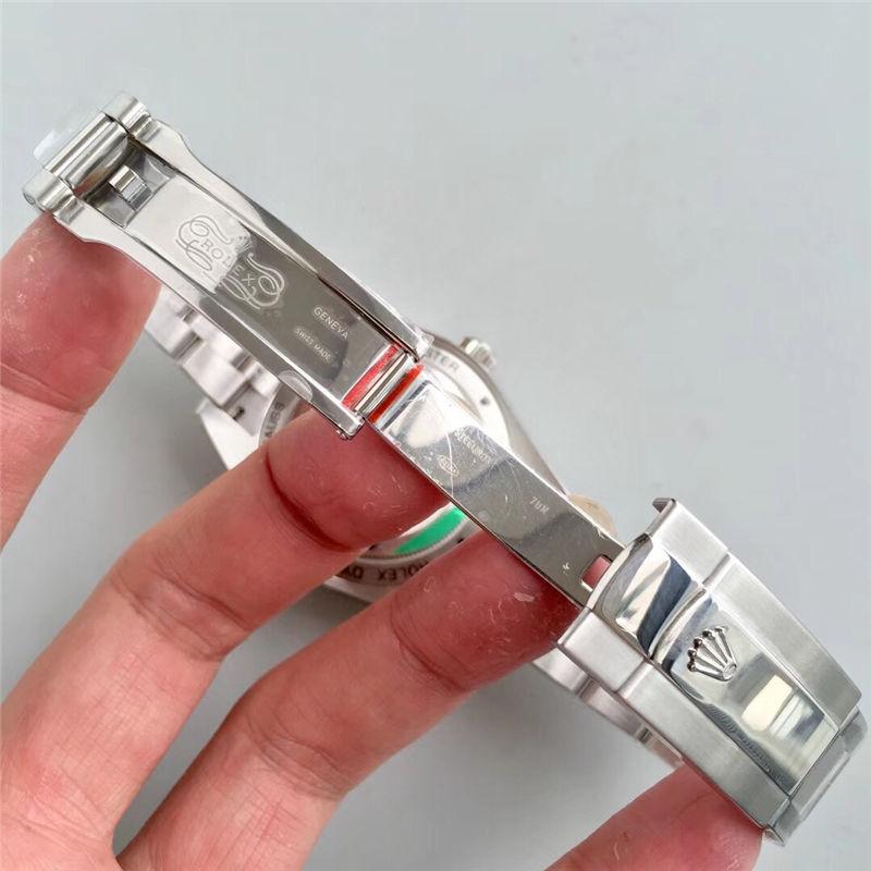 AR厂劳力士闪电针绿玻璃m116400gv-0001黑盘_复刻表与正品对比测评-第8张