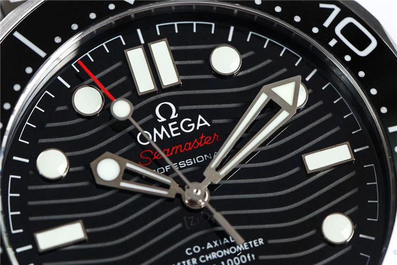 VS厂欧米茄海马300米黑面波浪纹_复刻表与正品对比测评