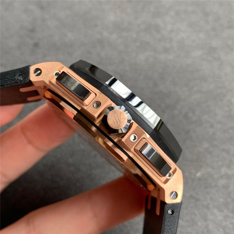 JF厂爱彼皇家橡树离岸型26416RO计时44mm玫瑰金_复刻表测评