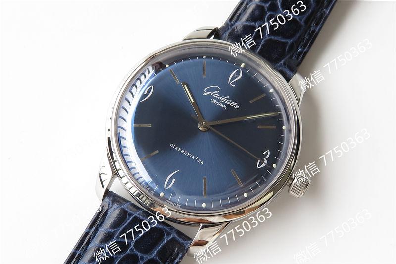 GF厂格拉苏蒂1960蓝色复刻表拆解测评-第2张