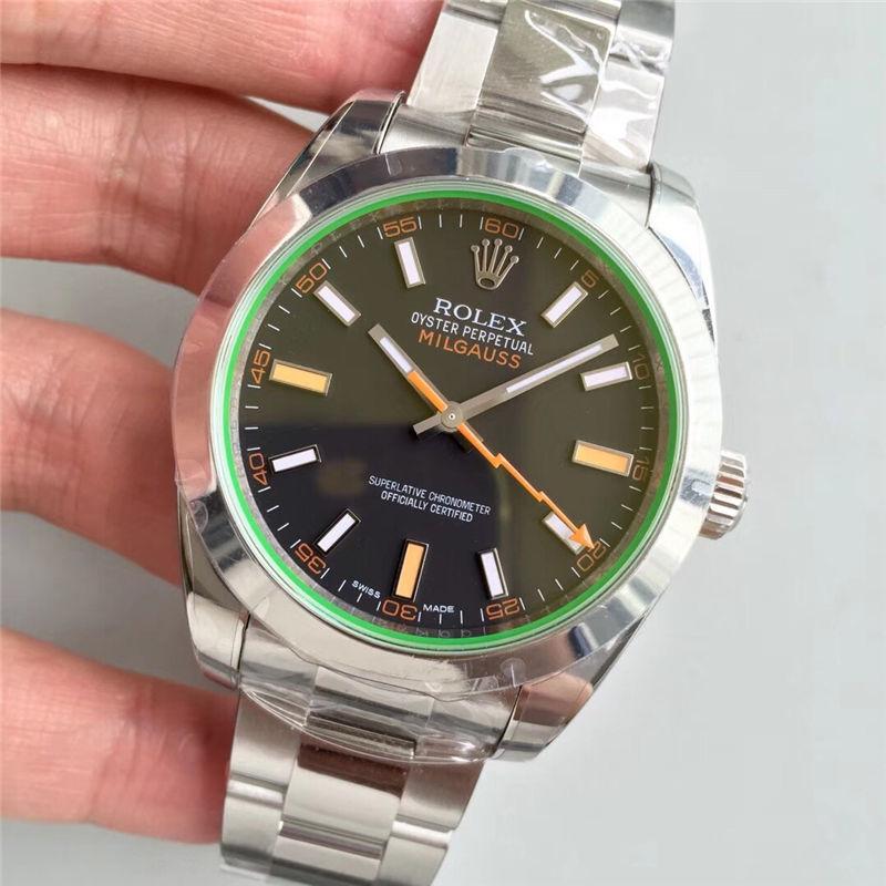 AR厂劳力士闪电针绿玻璃m116400gv-0001黑盘_复刻表与正品对比测评-第3张