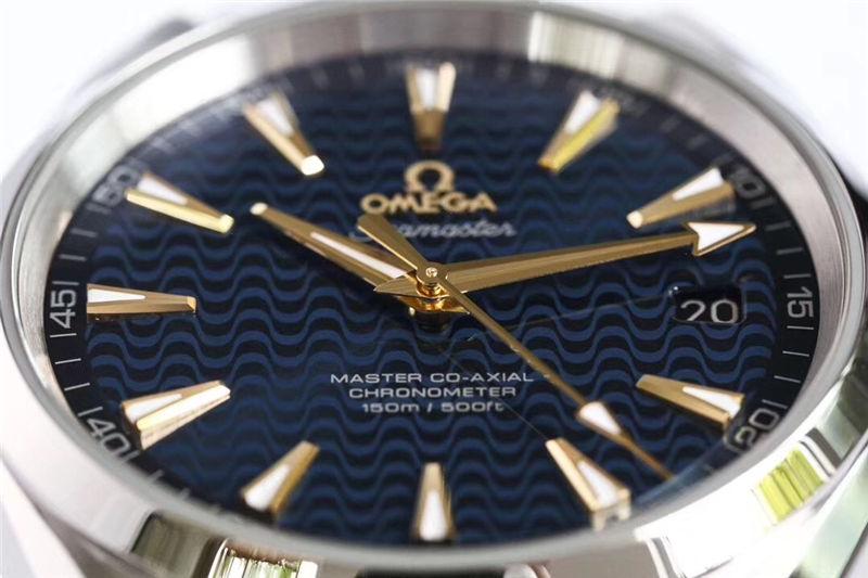 VS厂欧米茄海马150米蓝「里约奥运会特别版」_复刻表测评-第5张