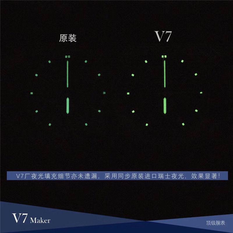 V7厂百年灵航空计时1系列ETA2824机芯_复刻表与正品对比测评