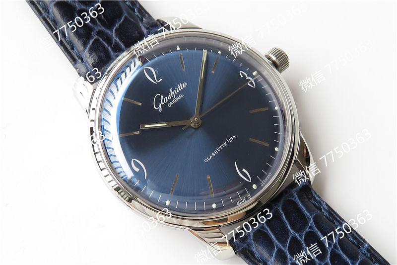 GF厂格拉苏蒂1960蓝色复刻表拆解测评-第3张