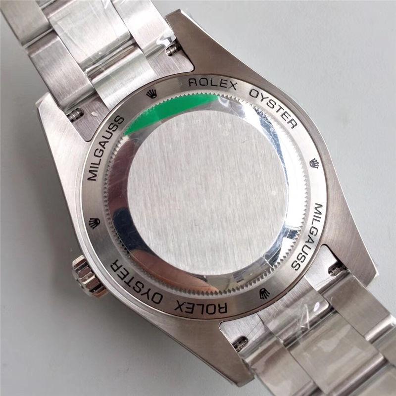 AR厂劳力士闪电针绿玻璃m116400gv-0001黑盘_复刻表与正品对比测评-第9张
