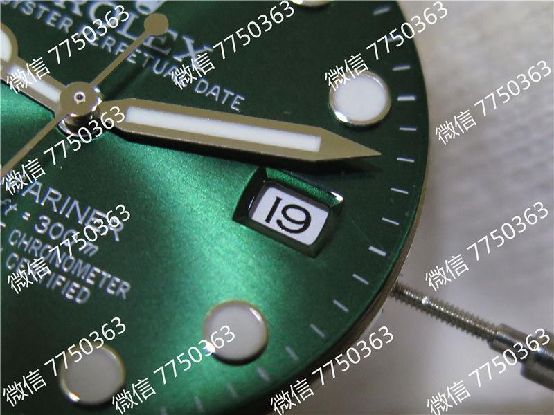 VR厂劳力士潜航者绿鬼316钢2824机芯复刻表拆解测评-第28张