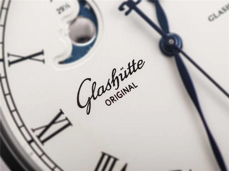 V9厂格拉苏蒂原创议员系列大日历月相_复刻表与正品对比测评
