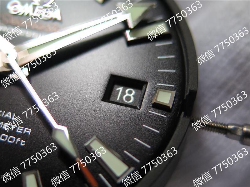 VS厂欧米茄海马600米橙色字胶带大号45.5mm复刻表拆解测评-第7张
