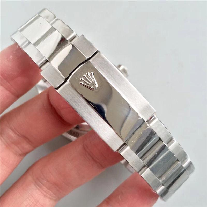 AR厂劳力士闪电针绿玻璃m116400gv-0001黑盘_复刻表与正品对比测评-第7张