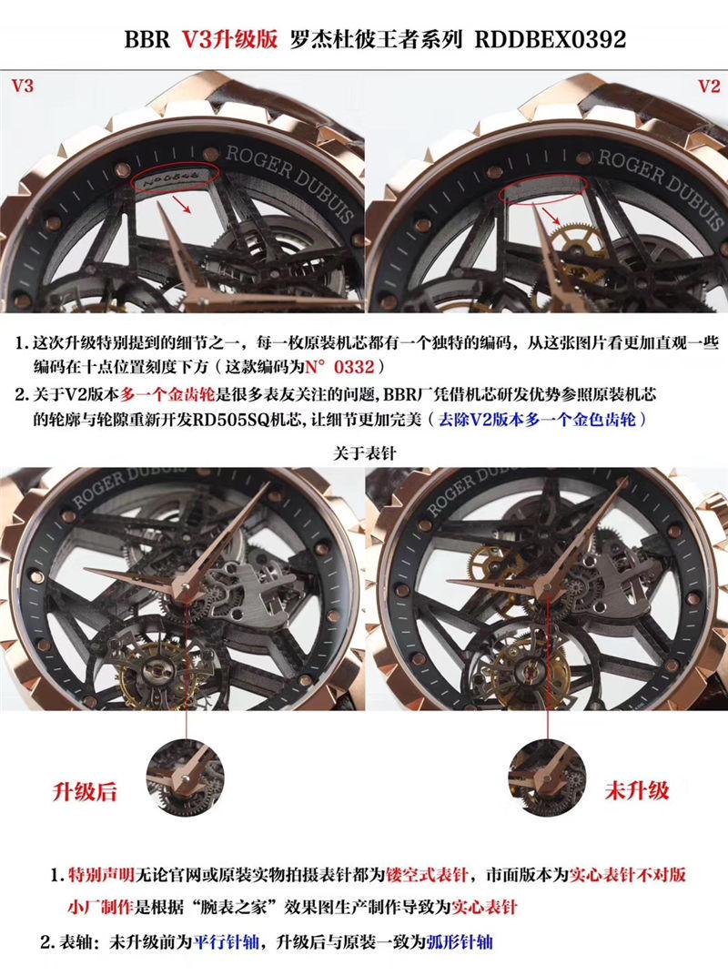 BBR厂罗杰杜彼V3版王者系列镂空陀飞轮RDDBEX0392_复刻表测评