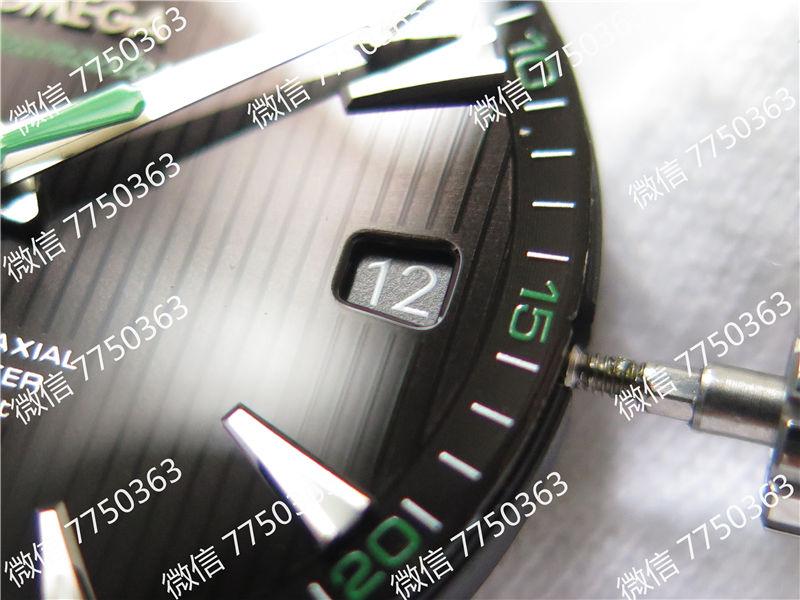 VS厂欧米茄海马150米黑色面绿色秒针复刻表拆解测评-第7张