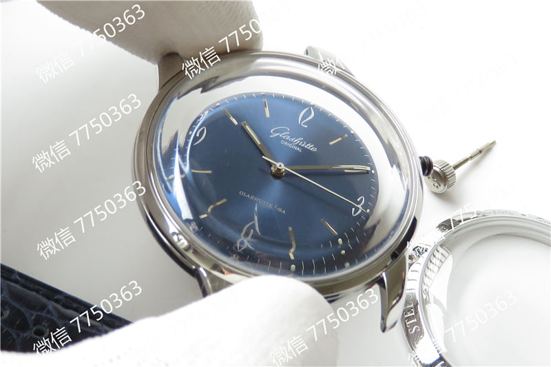 GF厂格拉苏蒂1960蓝色复刻表拆解测评-第16张