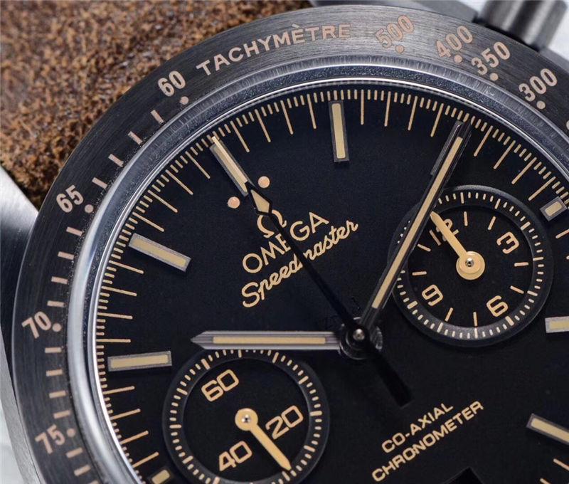 OM厂欧米茄超霸月之暗面陶瓷腕表_复刻表与正品对比测评
