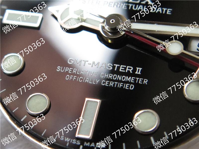 GM厂劳力士格林尼治红蓝圈116719三珠链3186机芯复刻表拆解测评-第5张