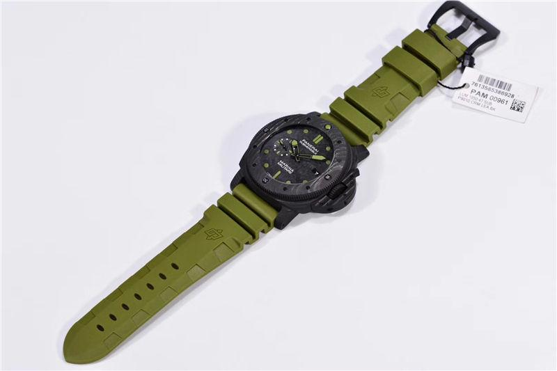 VS厂沛纳海pam961军绿色尽显军人风范_复刻表测评