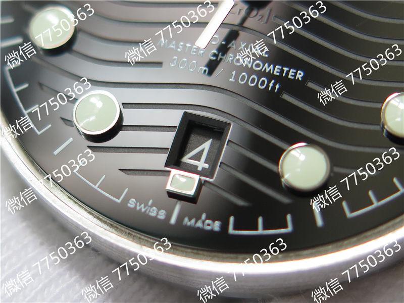 VS厂欧米茄海马300米黑面波浪纹胶带款复刻表拆解测评-第6张