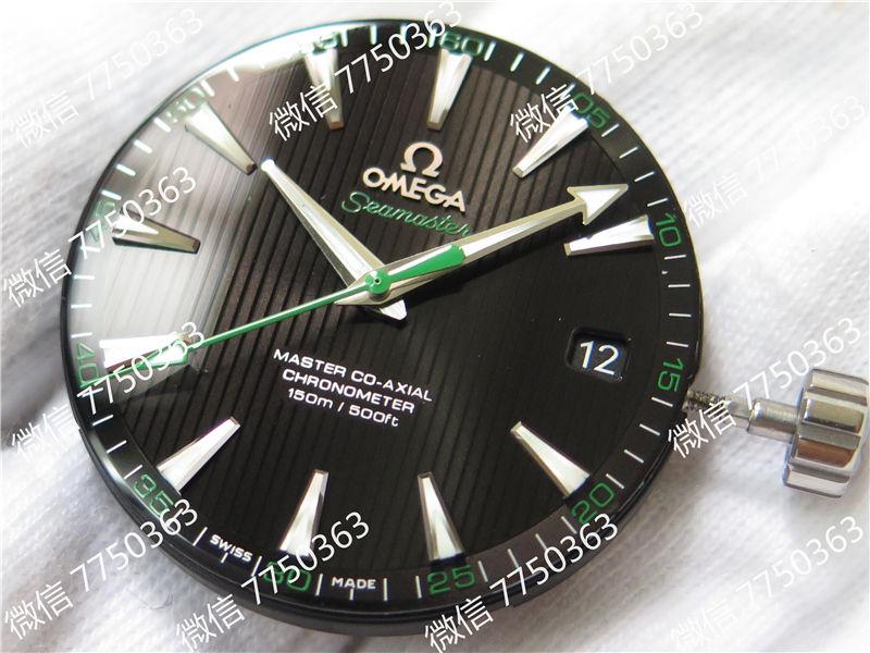 VS厂欧米茄海马150米黑色面绿色秒针复刻表拆解测评-第3张