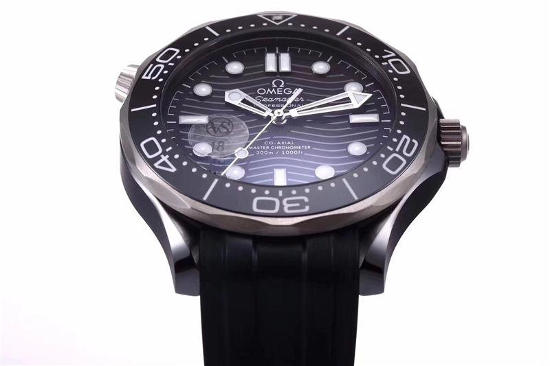 VS厂欧米茄海马300米黑陶瓷表壳_复刻表测评-第5张