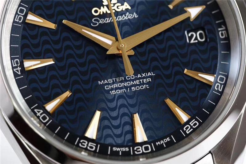 VS厂欧米茄海马150米蓝「里约奥运会特别版」_复刻表测评-第4张