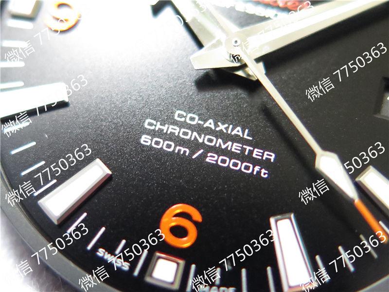 VS厂欧米茄海马600米橙色字胶带大号45.5mm复刻表拆解测评-第5张