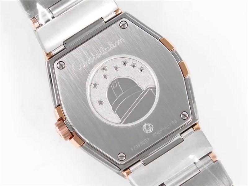 ZF厂欧米茄星座石英女款玫瑰金钻圈_复刻表与正品对比测评-第17张