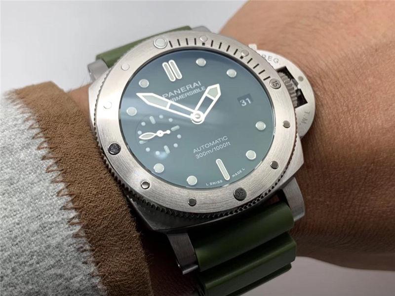 VS厂沛纳海pam1055绿海魂42mm_复刻表测评-第10张