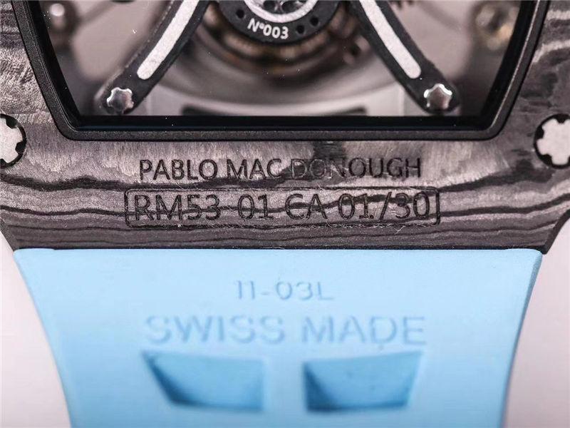 JB厂V2版理查德米勒RM53-01陀飞轮_复刻表测评-第22张