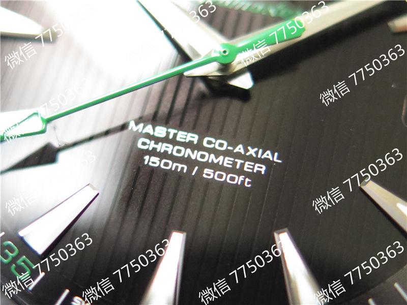 VS厂欧米茄海马150米黑色面绿色秒针复刻表拆解测评-第5张