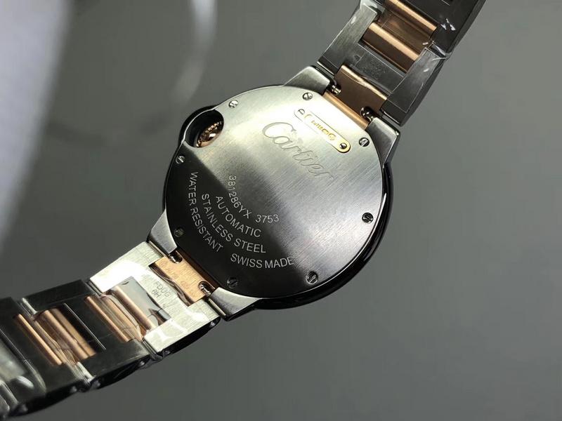V6厂卡地亚蓝气球间玫瑰金33mm做工如何_复刻表测评