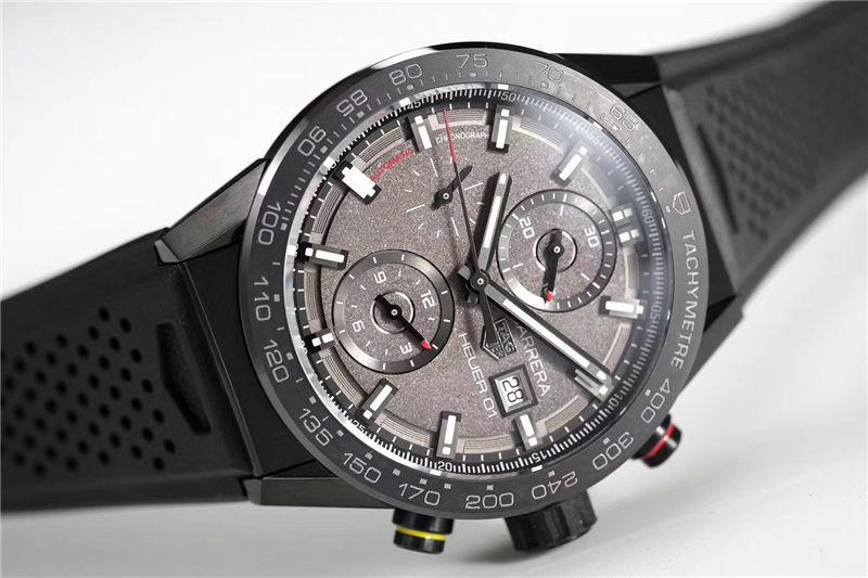 XF厂泰格豪雅卡莱拉月球表面Heuer 01 CLEP特别款_复刻表与正品对比测评-第14张