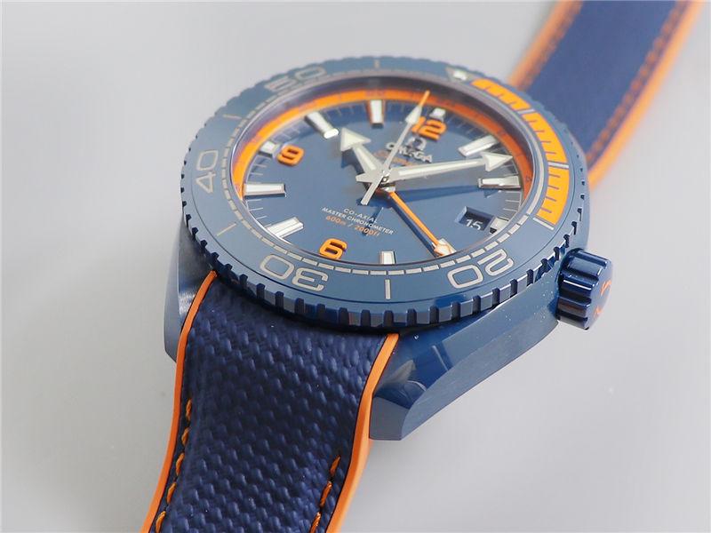 VS厂欧米茄海马600碧海之蓝陶瓷表_复刻表测评-第3张